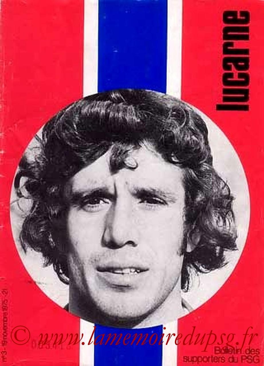 1975-11-19  PSG-Valenciennes (14ème D1, Lucarne N°3)
