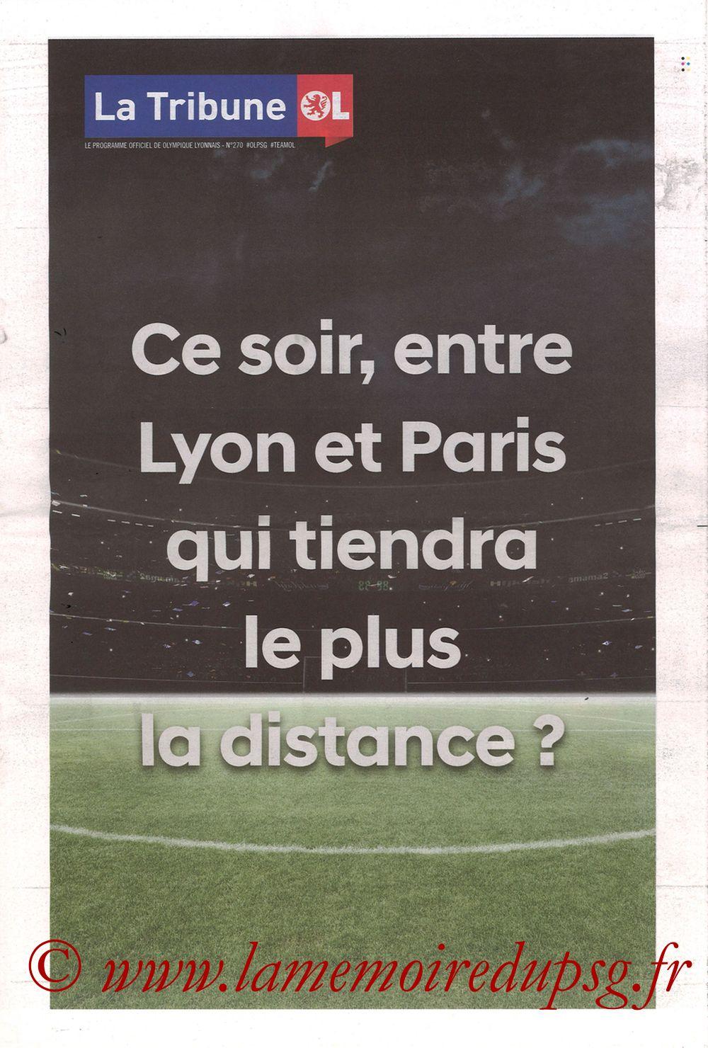 2019-02-03  Lyon-PSG (23ème L1, La Tribune OL N°270) - Page 01