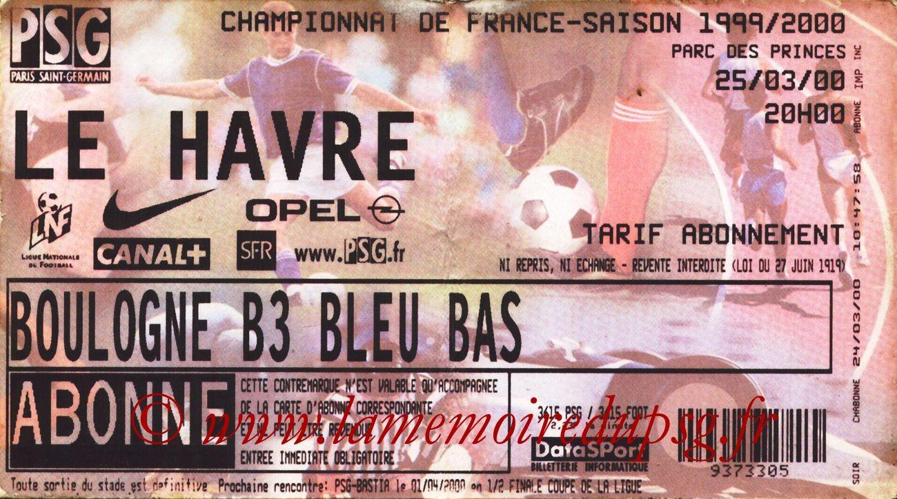 2000-03-25  PSG-Le Havre (29ème D1)