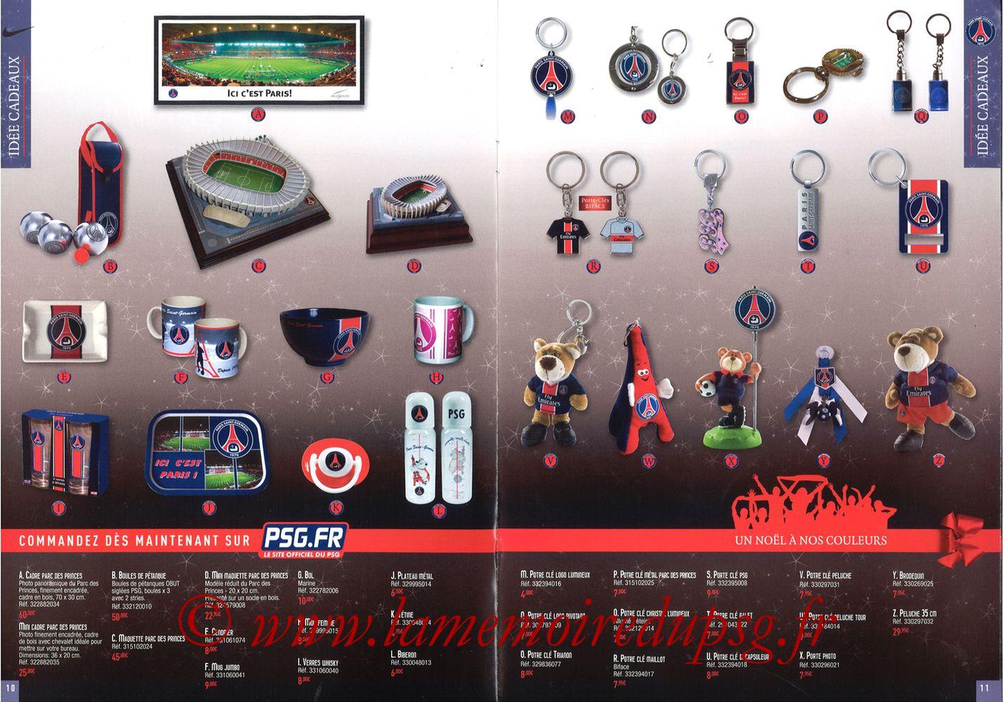 Catalogue PSG - 2008-09 - Noêl - Pages 10 et 11