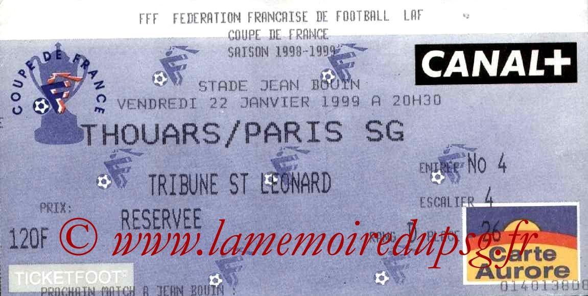 1999-02-09  Thouars-PSG (32ème CF, match arrété à Angers)
