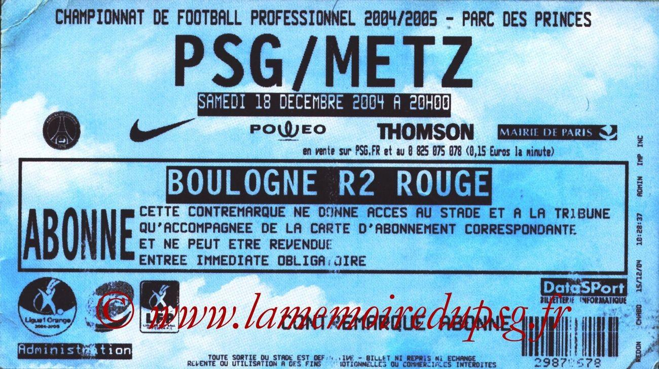 2004-12-18  PSG-Metz (19ème L1)