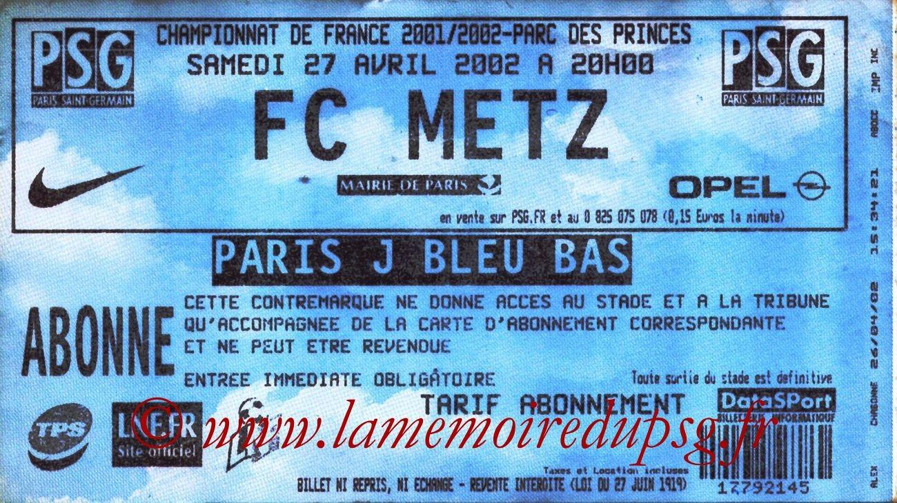 2002-04-27  PSG-Metz (33ème D1)
