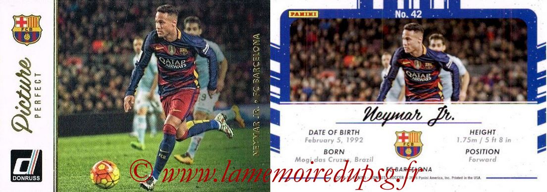 2016 - Panini Donruss Cards - N° PP42 - NEYMAR Jr. (FC Barcelone) (Picture Perfect)