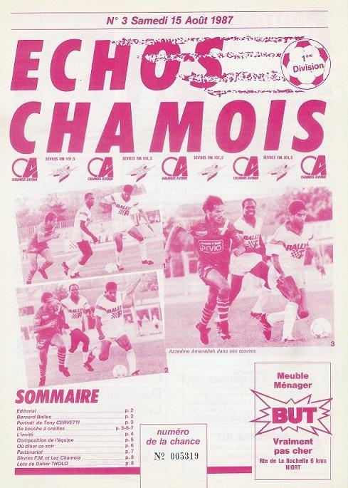 1987-08-15  Niort-PSG (5ème D1, Echos Chamois N°3)