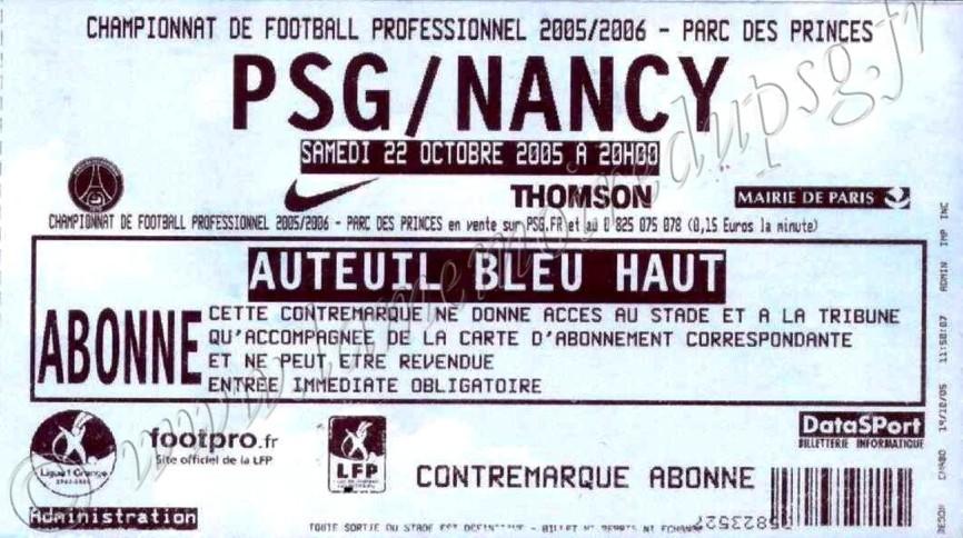 2005-10-22  PSG-Nancy (12ème L1)