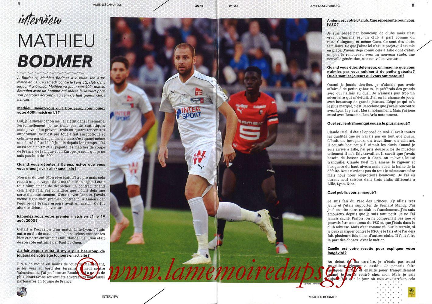2019-01-12  Amiens-PSG (20ème L1, Zone mixte N°9) - Pages 01 et 02