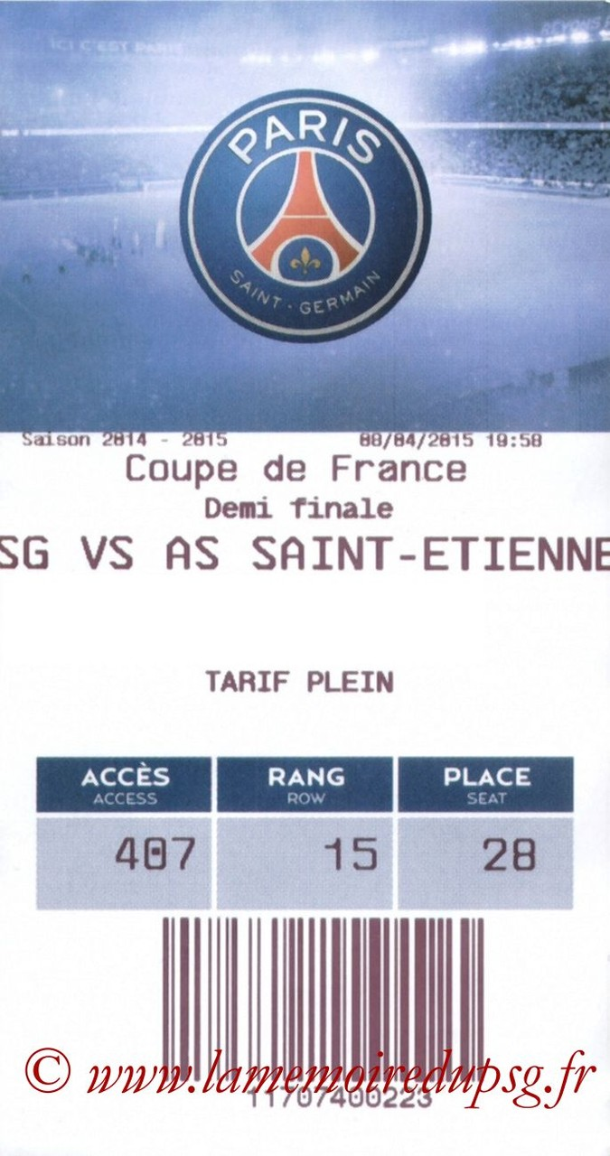 2015-04-08  PSG-Saint Etienne (Demi CF, E-ticket)