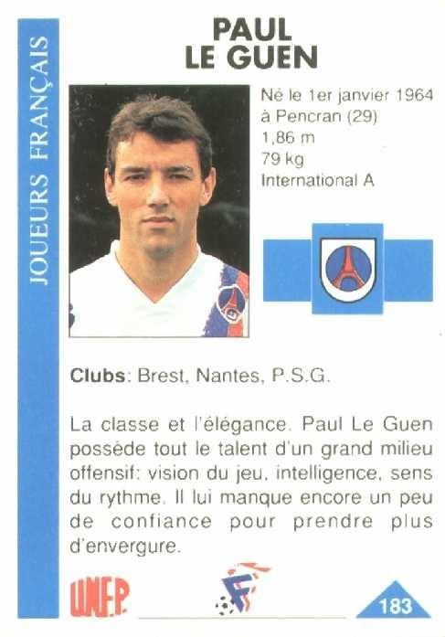 N° 183 - Paul LE GUEN (Verso)