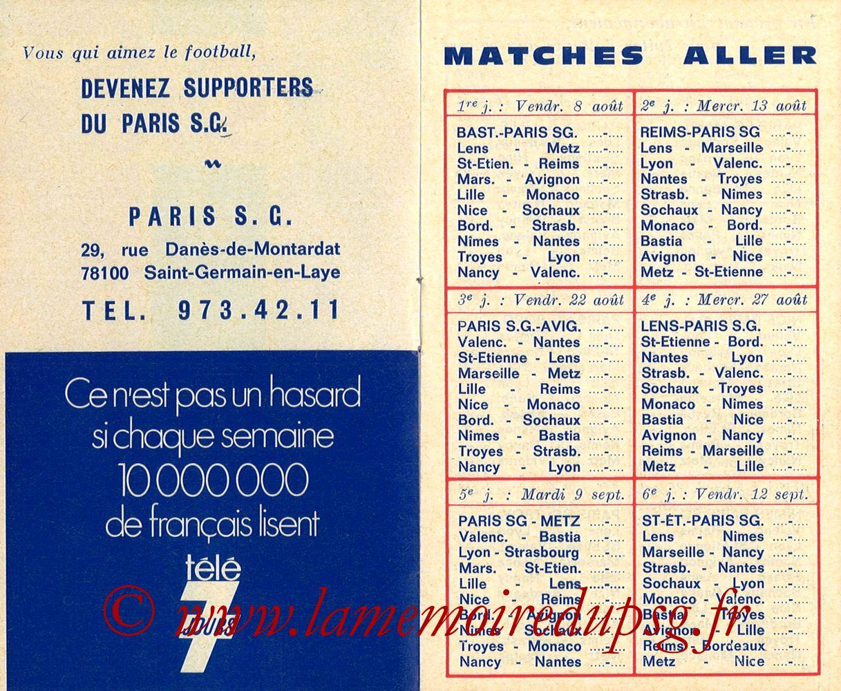 1975-76- Guide de la Saison PSG - Pages 02 et 03