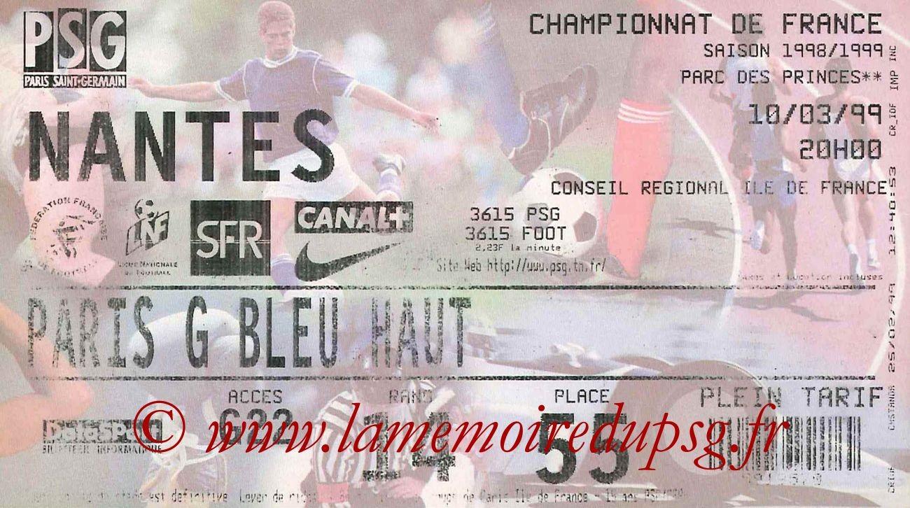 1999-03-10  PSG-Nantes (26ème D1)