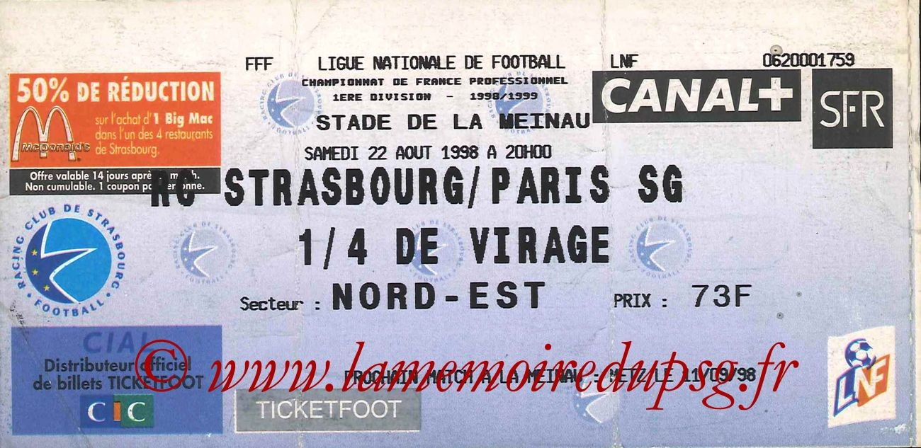 1998-08-22  Strasbourg-PSG (3ème D1)