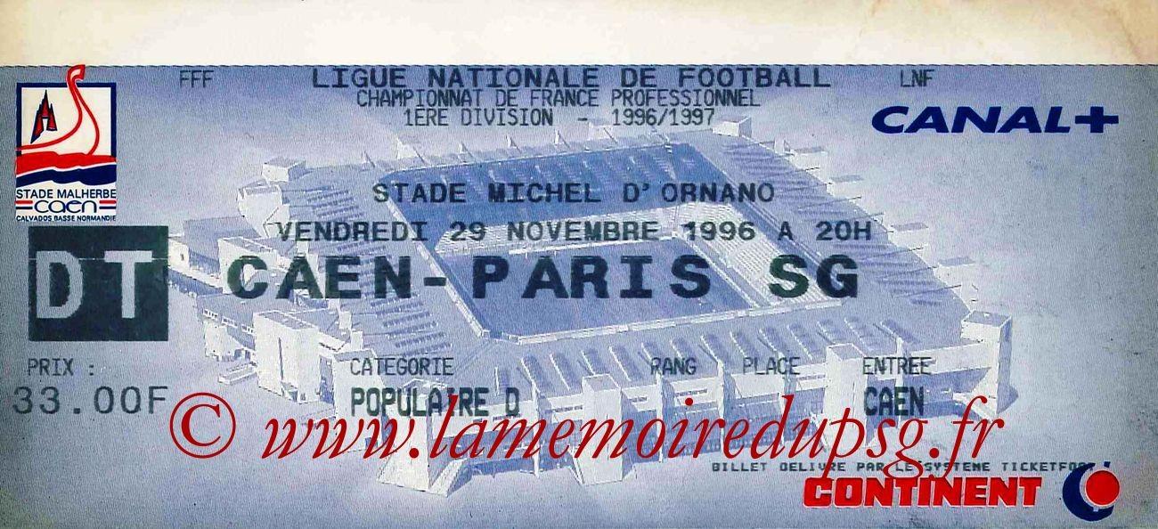 1996-11-29  Caen-PSG (20ème D1)