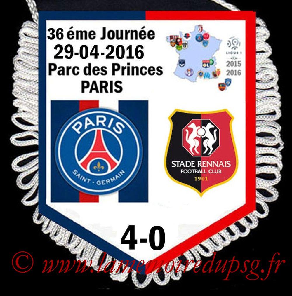 2016-04-29  PSG-Rennes (36ème L1)