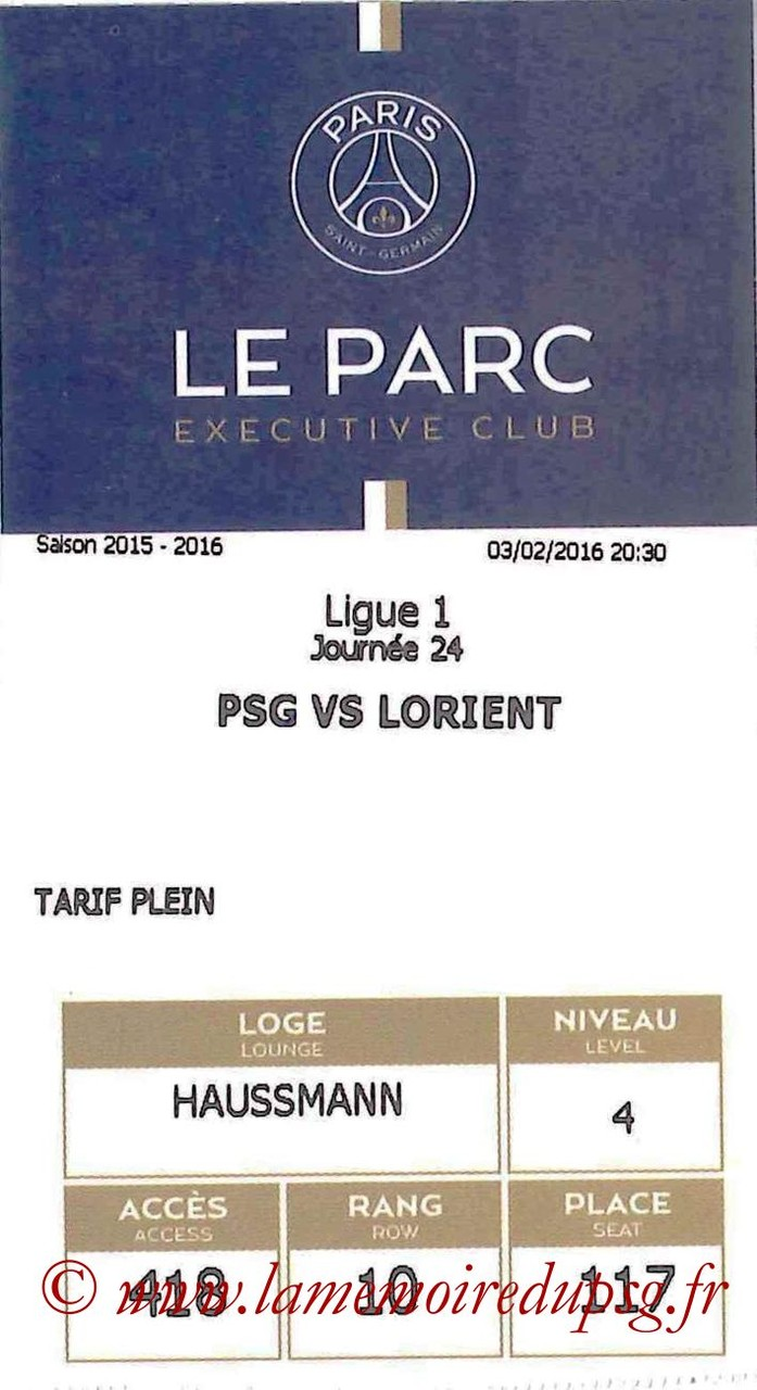 2016-02-03  PSG-Lorient (24ème L1, E-ticket Executive club)