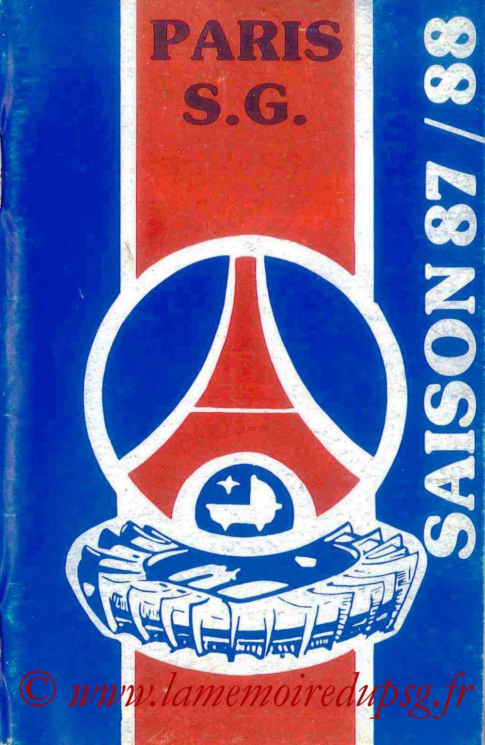 1987-88 - Guide de la Saison PSG - Couverture