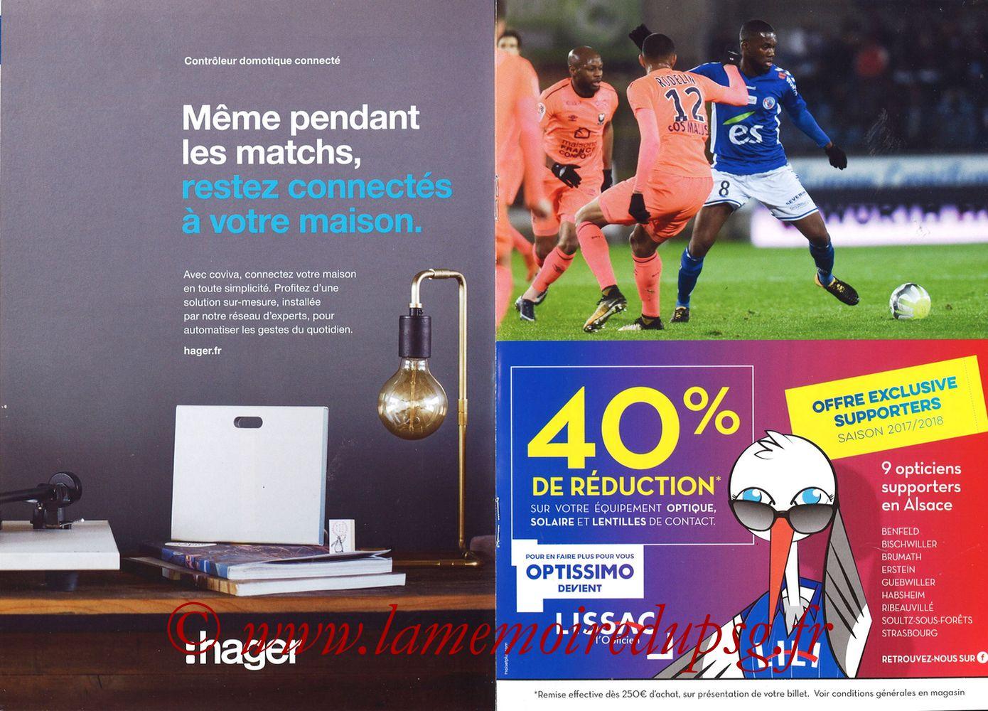2017-12-02  Strasbourg-PSG (16ème L1, Passion Racing N°7) - Pages 12 et 13