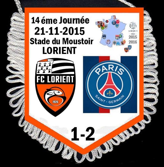 2015-11-21  Lorient-PSG (14ème L1)