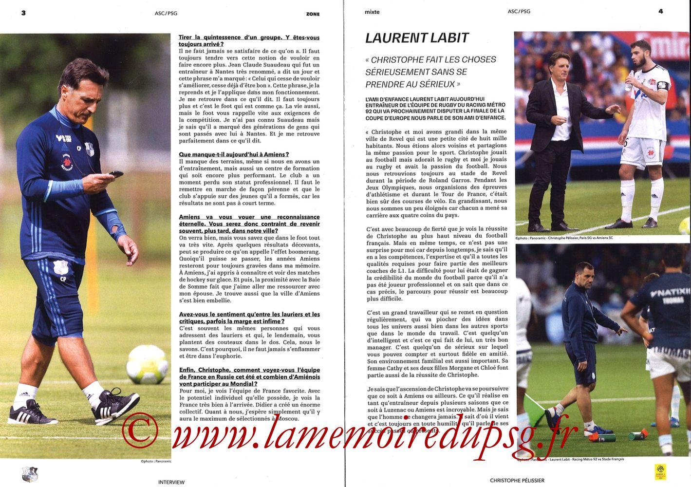 2018-05-04  Amiens-PSG (36ème L1, Zone Mixte N°13) - Pages 04 et 05