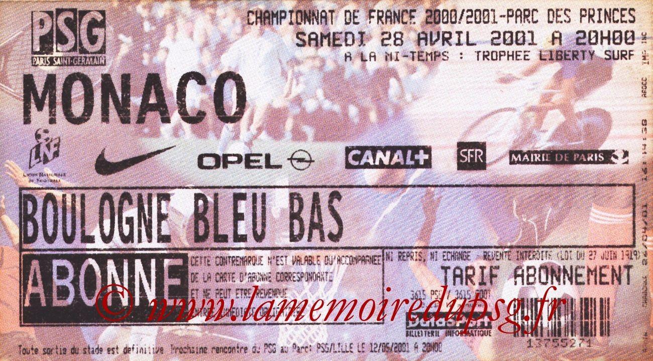 2001-04-28  PSG-Monaco (32ème D1)