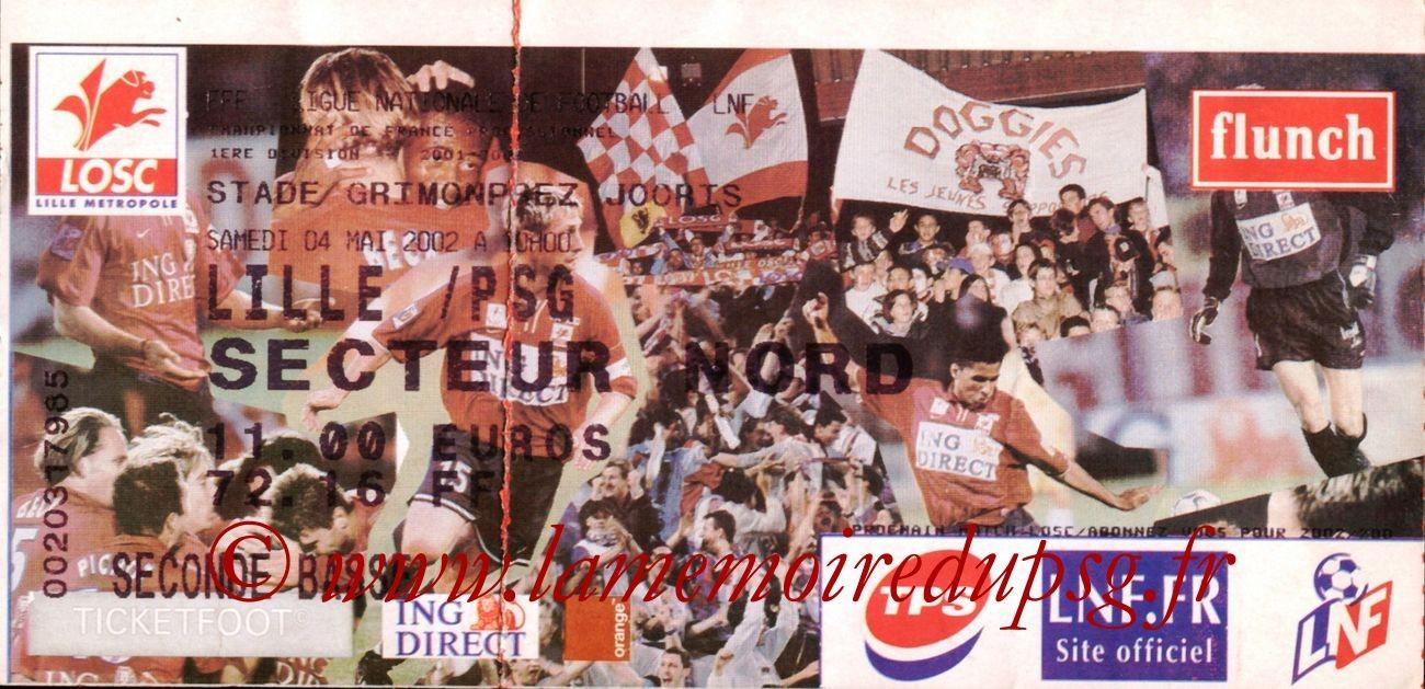 2002-05-05  Lille-PSG (34ème D1)