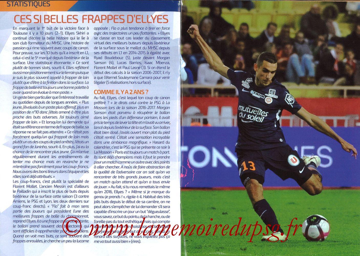 2019-04-30  Montpellier-PSG (34ème L1, L'Echo de la Mosson N°17) - Pages 10 et 11