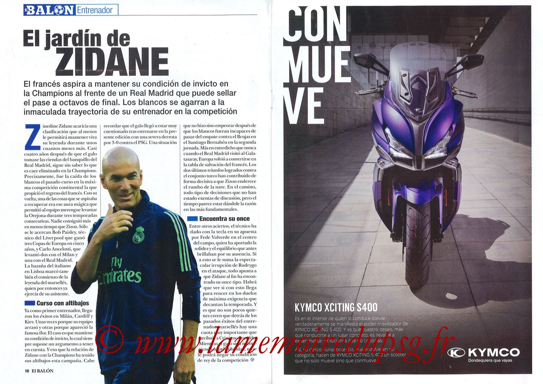 2019-11-26  Real Madrid-PSG (5ème C1, El Balon in the Game N°74) - Pages 10 et 11