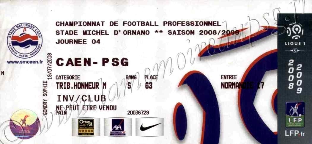 2008-08-30  Caen-PSG (4ème L1)