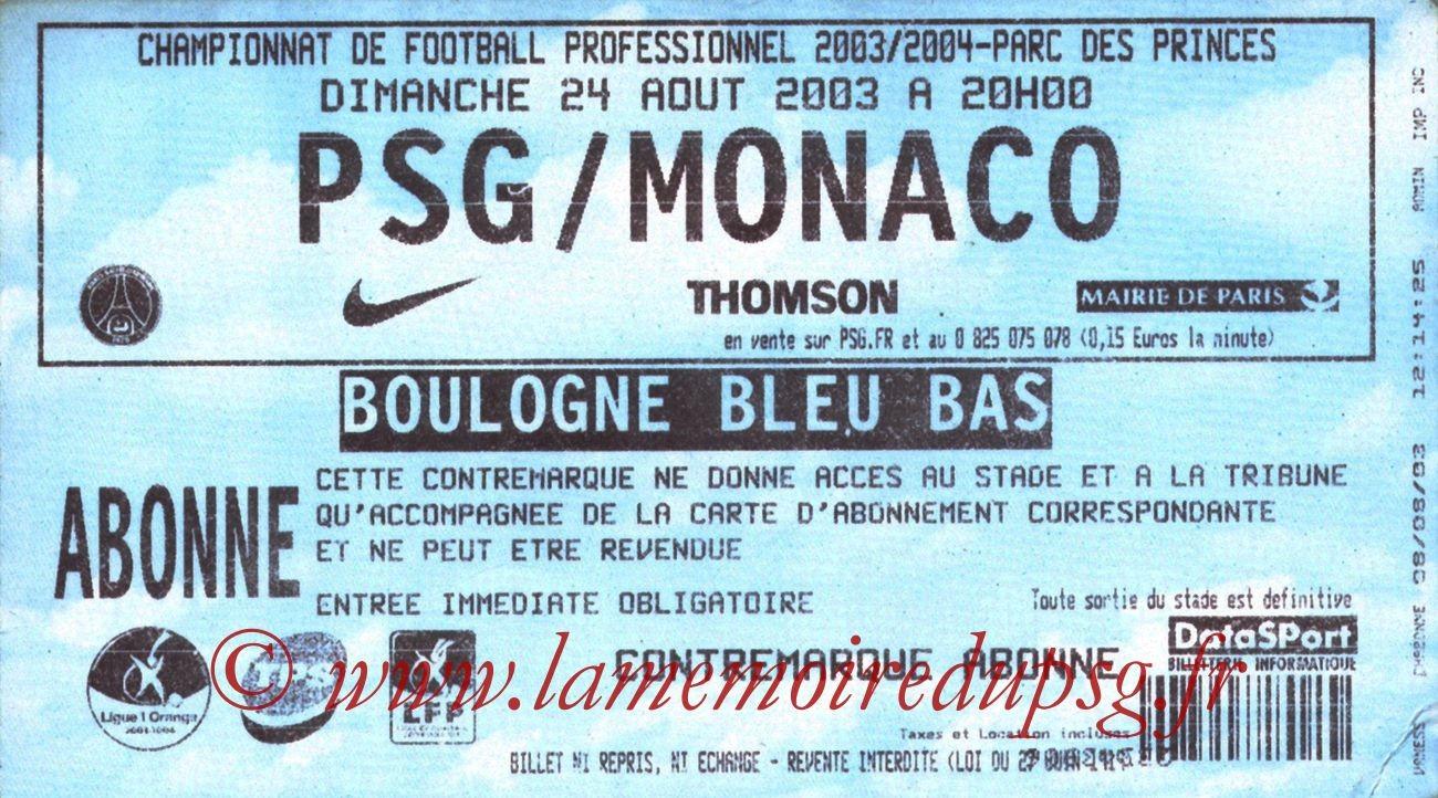 2003-08-24   PSG-Monaco (4ème L1)