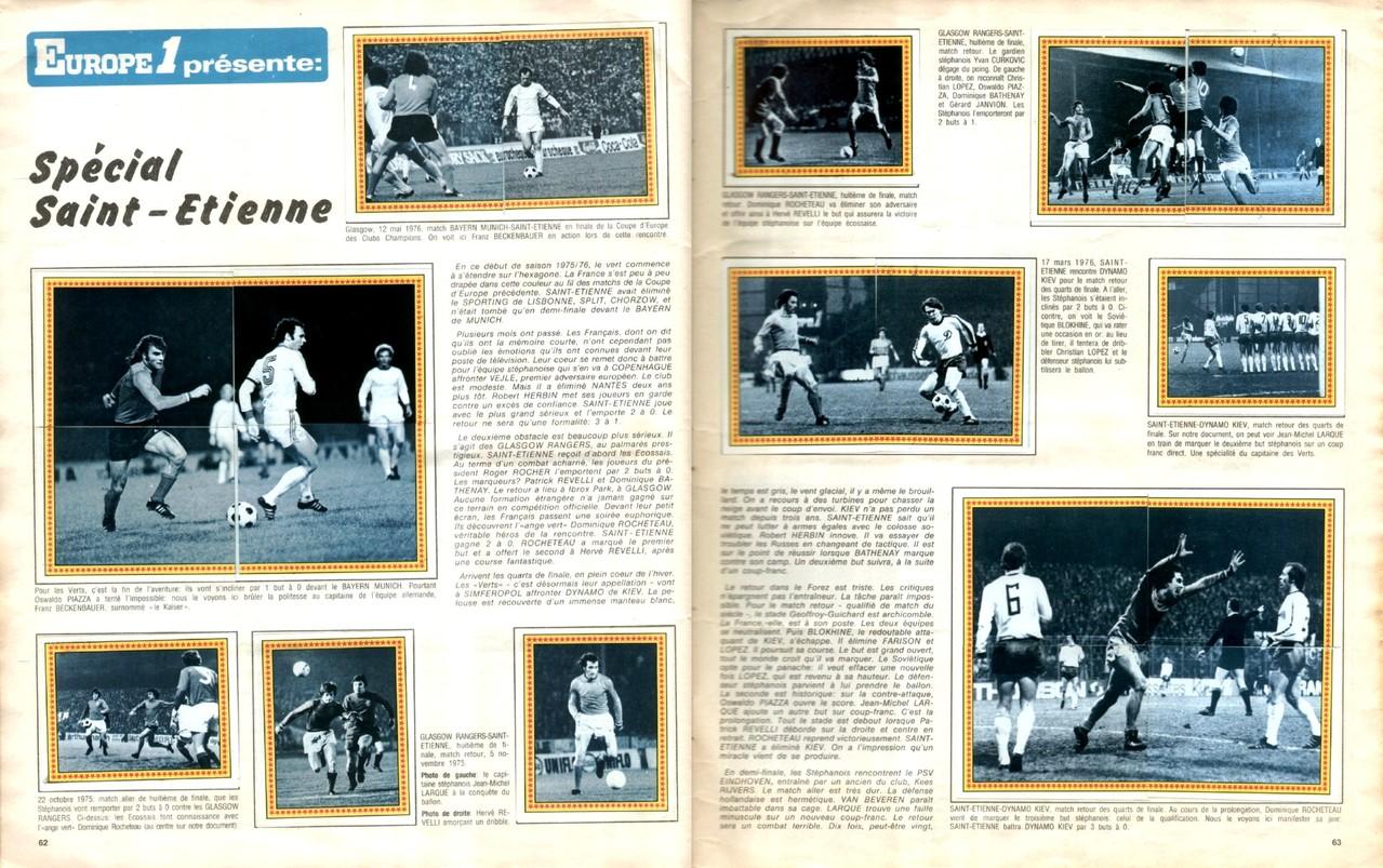 1979-80 - Panini 1980 - Pages 62 et 63 - Spécial Saint-Etienne