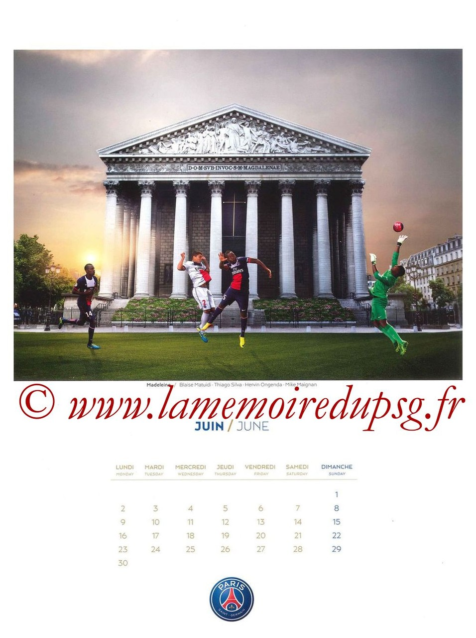 Calendrier PSG 2014 - Page 06 - Madeleine