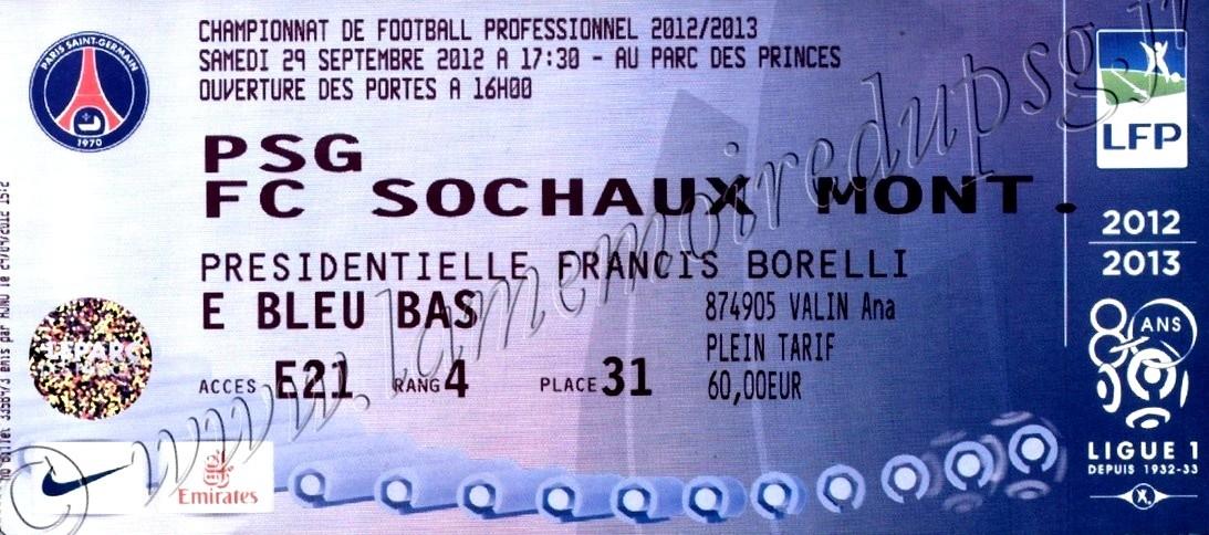 2012-09-29  PSG-Sochaux (7ème L1)