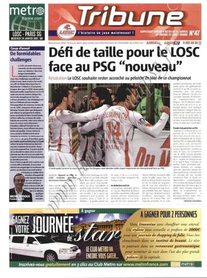 2007-01-24  Lille-PSG (21ème L1, Tribune LOSC N°46)