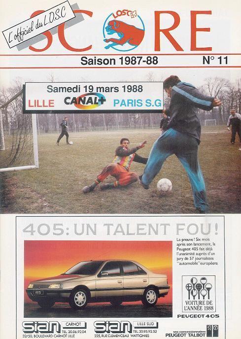 1988-03-19  Lille-PSG (28ème D1, Score N°11)