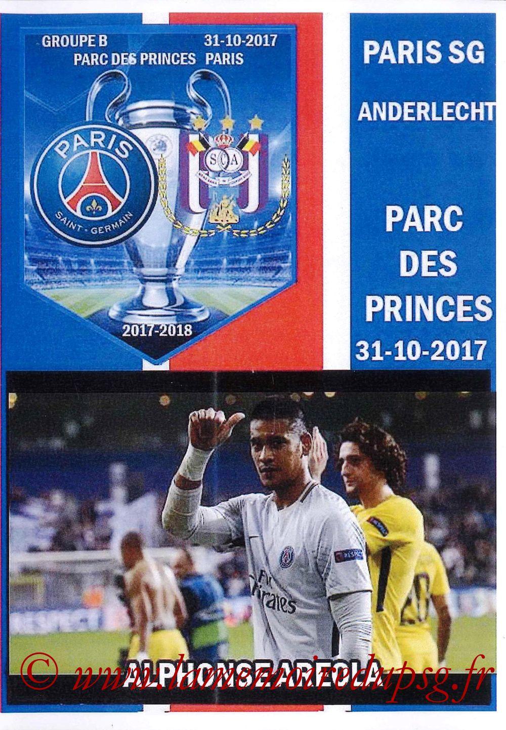 2017-10-31  PSG-Anderlecht (4ème L1, Programme pirate)