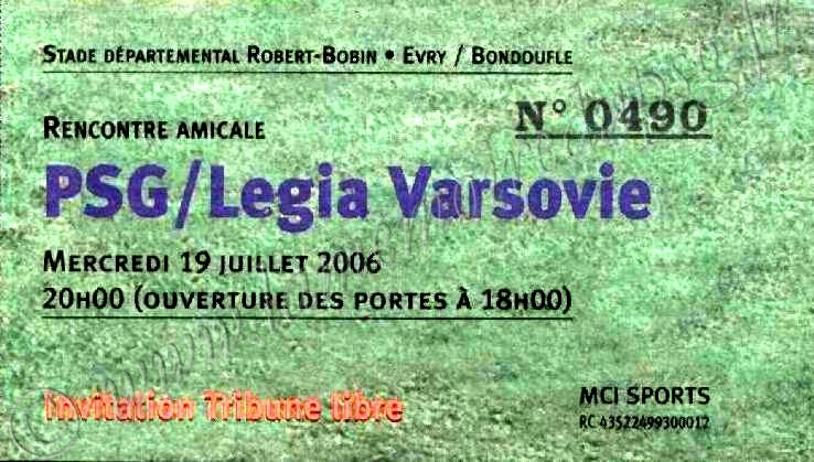 2006-07-19  PSG-Legia Varsovie (Amical à Evry Bondoufle)