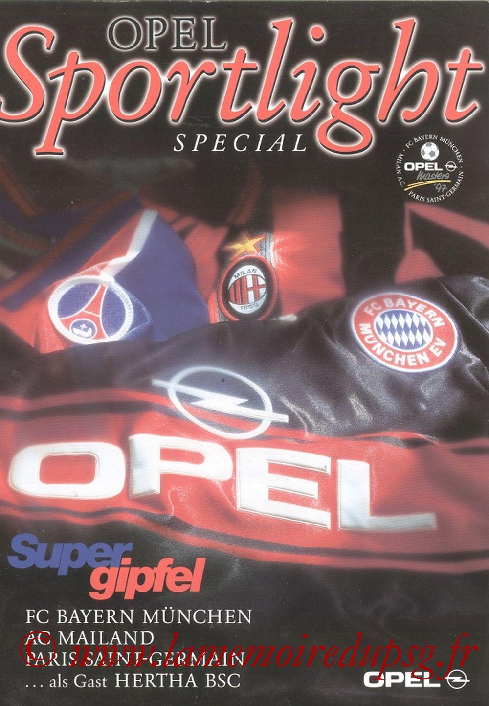 1997-07-28  Opel Master à Berlin (Programme officiel)