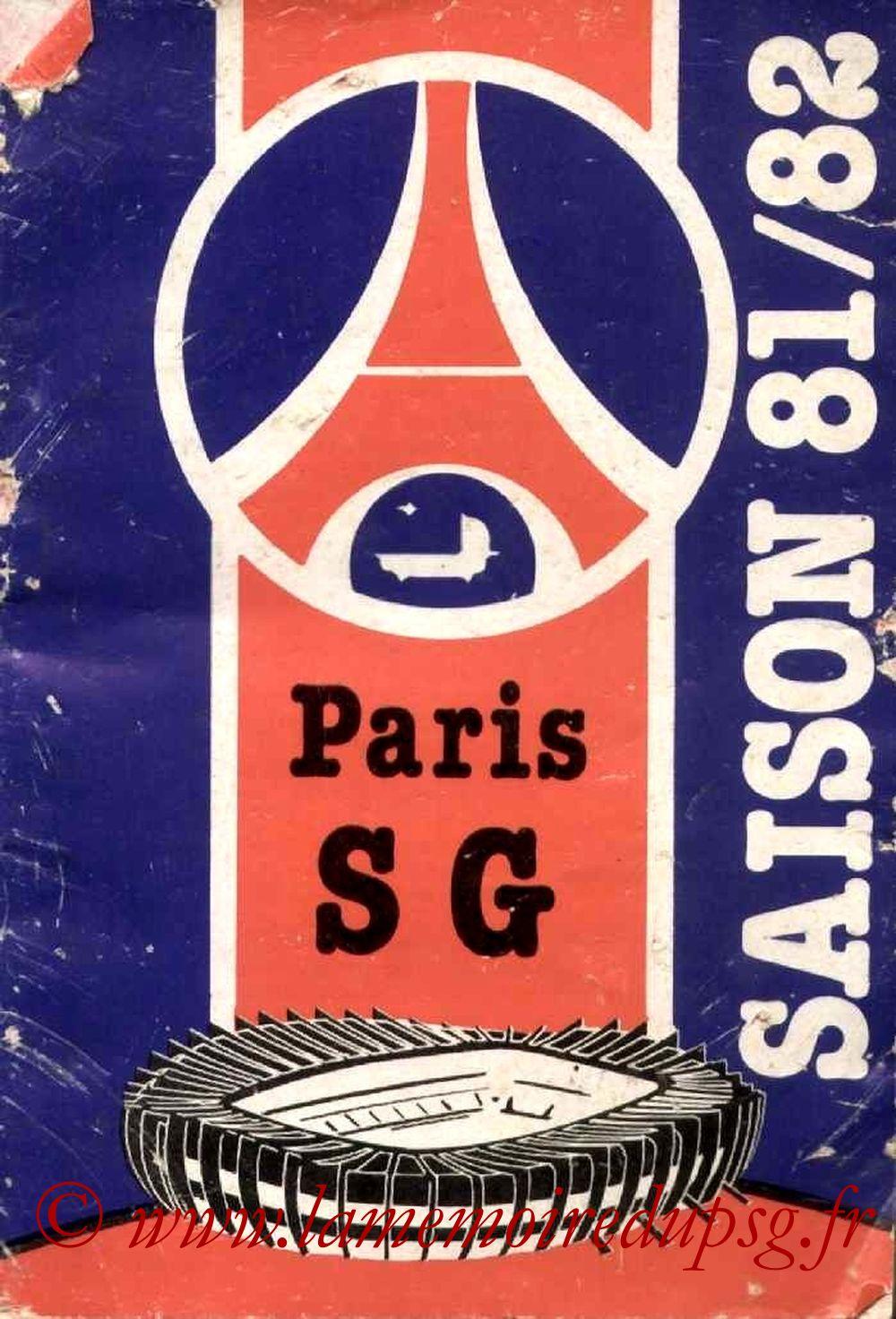 1981-82 - Guide de la Saison PSG