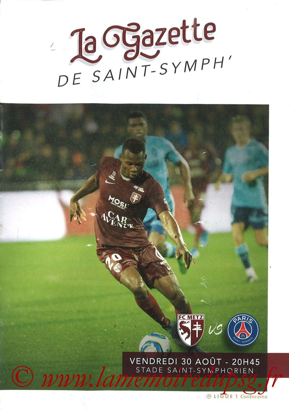 2019-08-30  Metz-PSG (4ème L1, La Gazette de Saint-Symph')