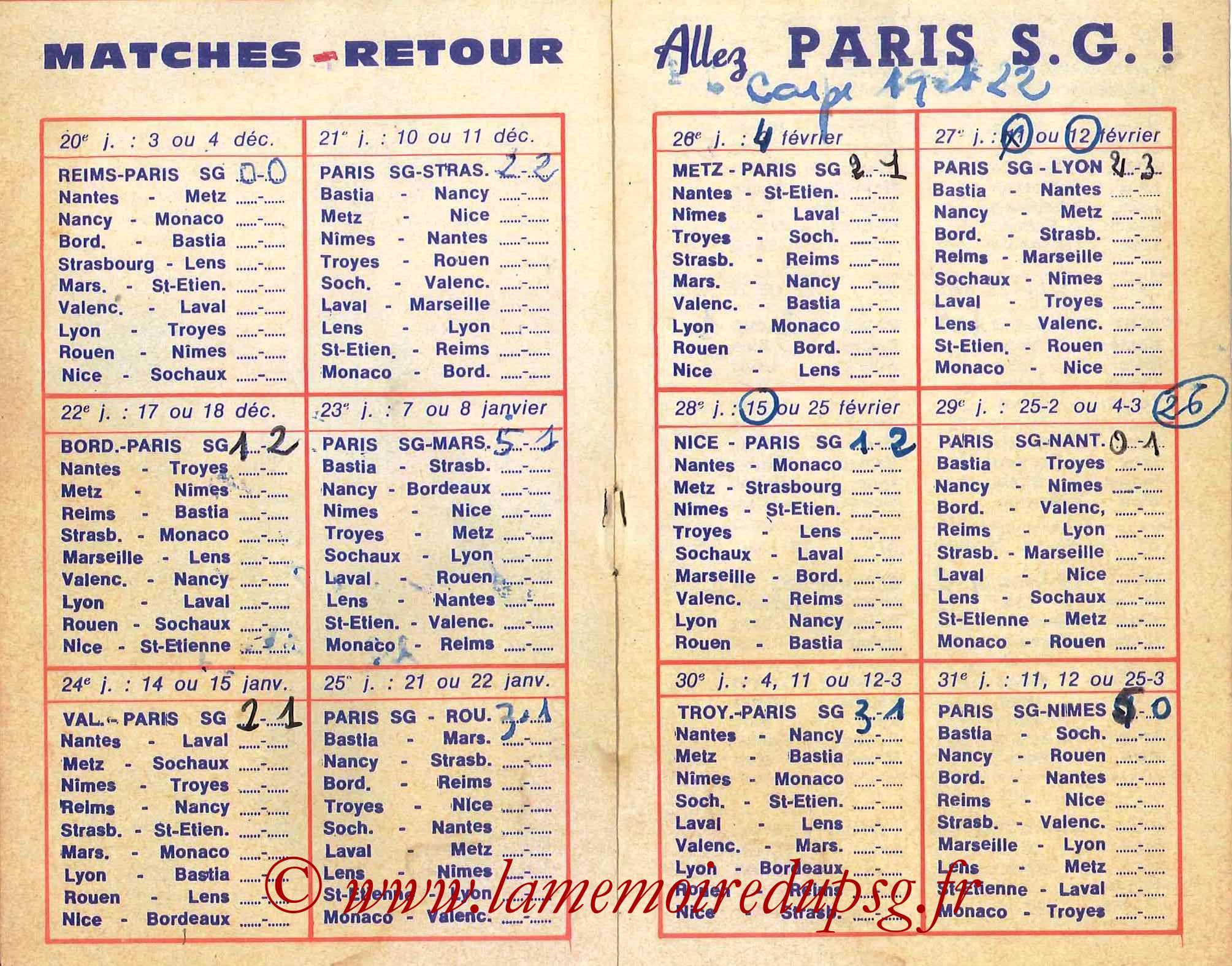 1977-78 - Guide de la Saison PSG - Pages 8 et 9