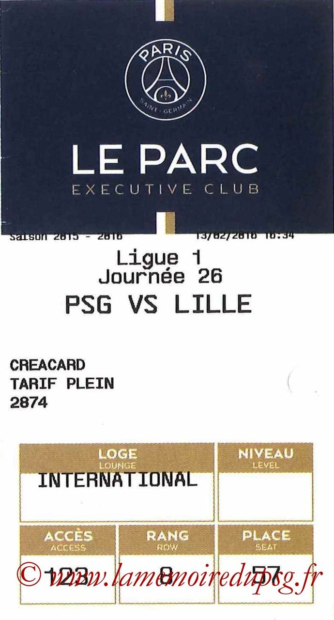 2016-02-13  PSG-Lille (26ème L1, E-ticket Executive club)