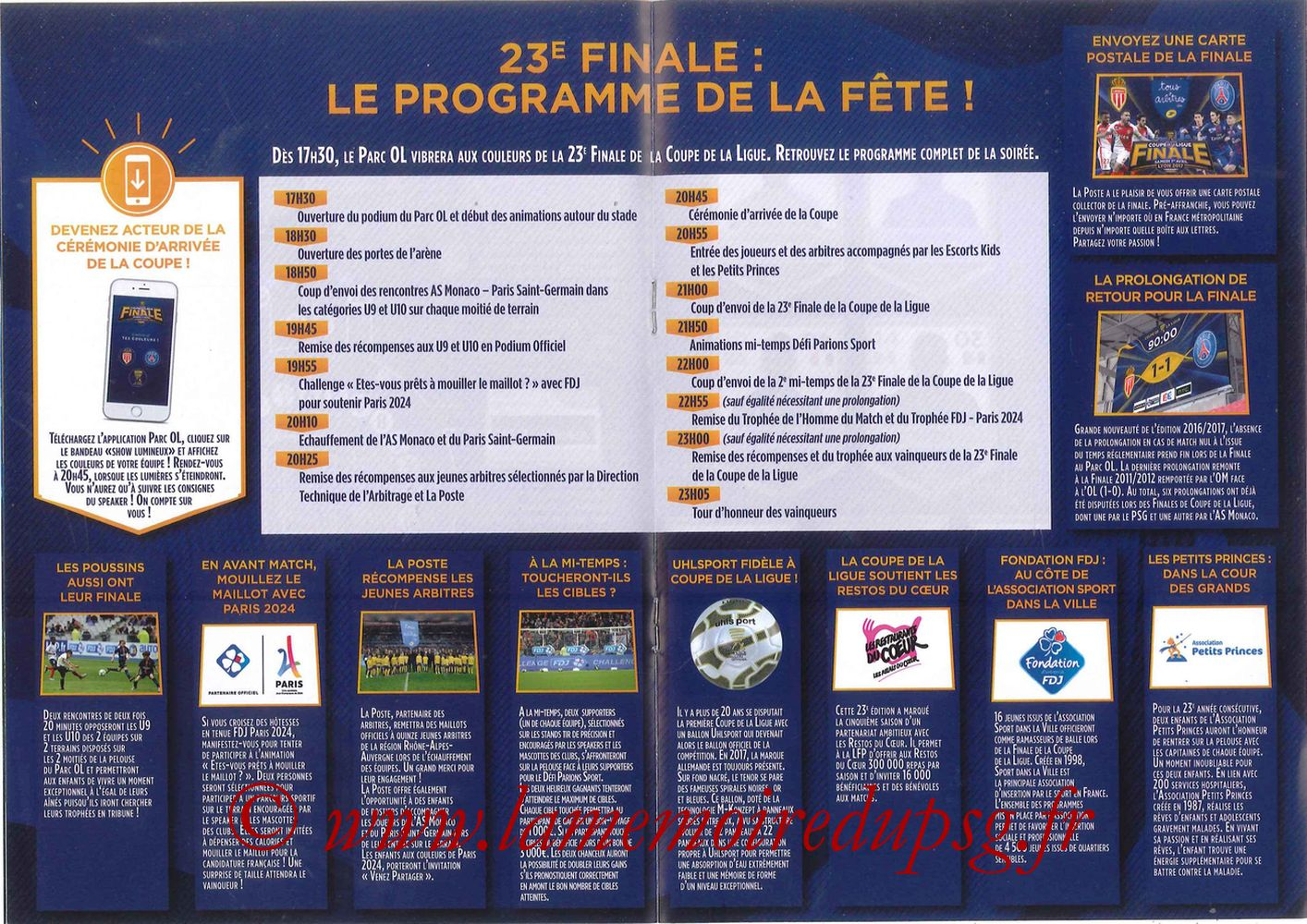 2017-04-01  Monaco-PSG (Finale CL à Lyon, Programme officiel) - Pages 08 et 09