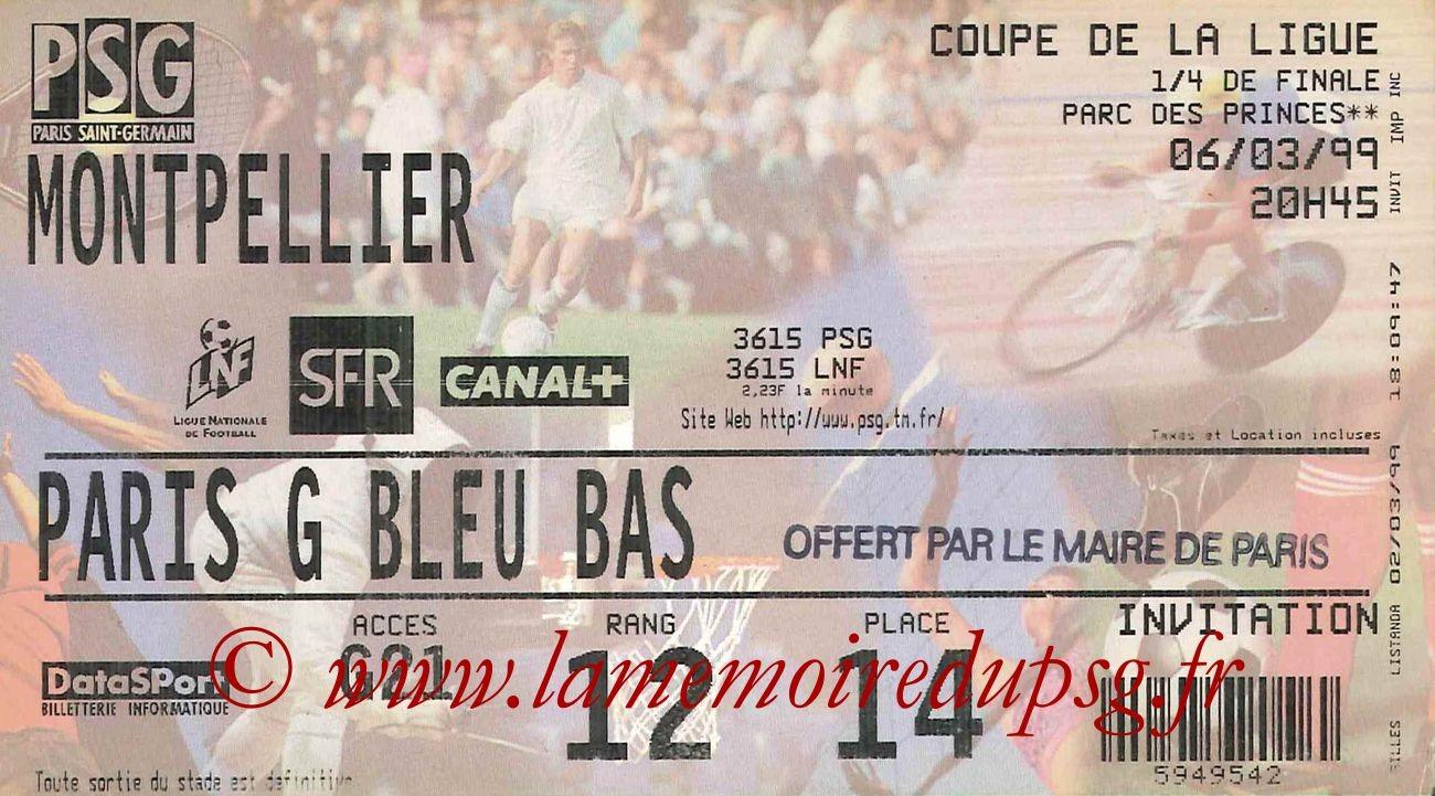 1999-03-07  PSG-Montpellier (Quart Finale CL)