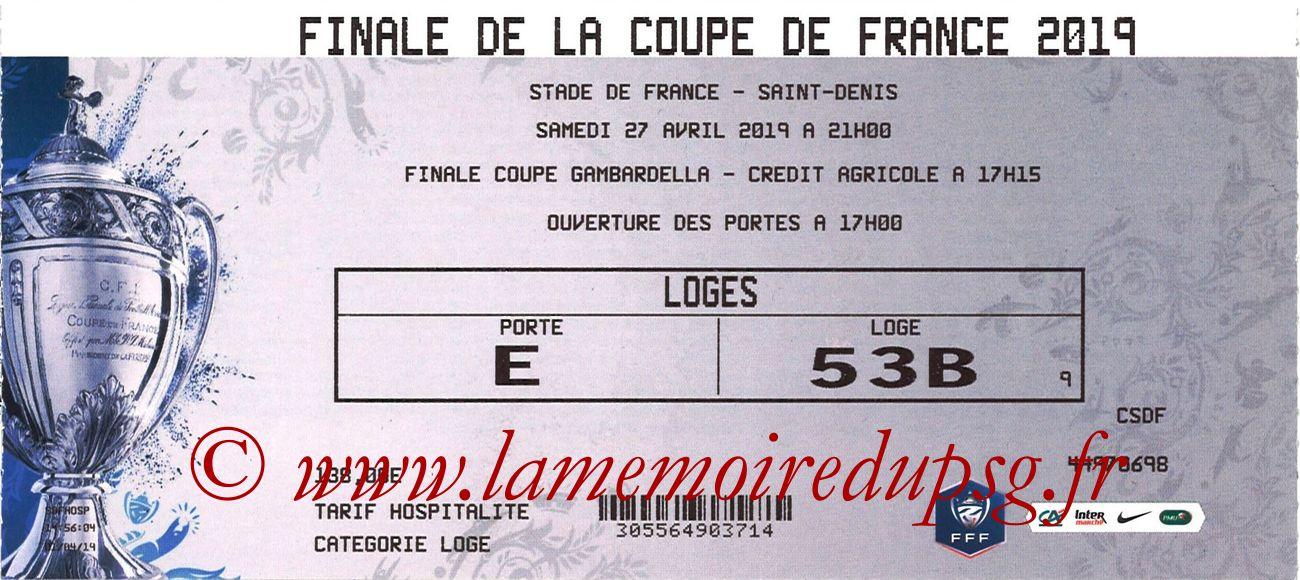 2019-04-27  Rennes-PSG (Finale CF au Stade de France)