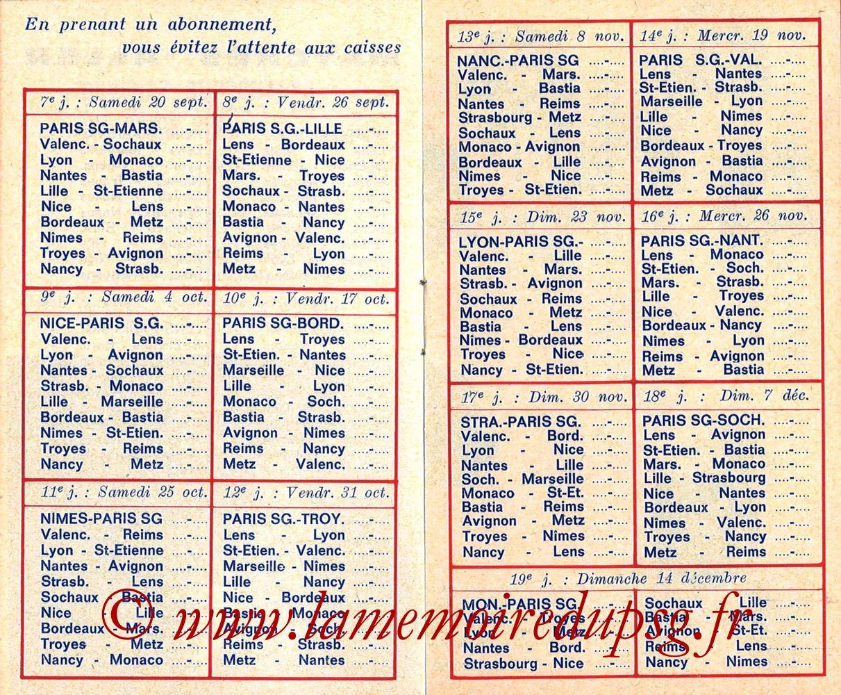 1975-76- Guide de la Saison PSG - Pages 04 et 05