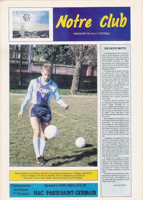 1988-06-04  Le Havre-PSG (38ème D1, Notre club)