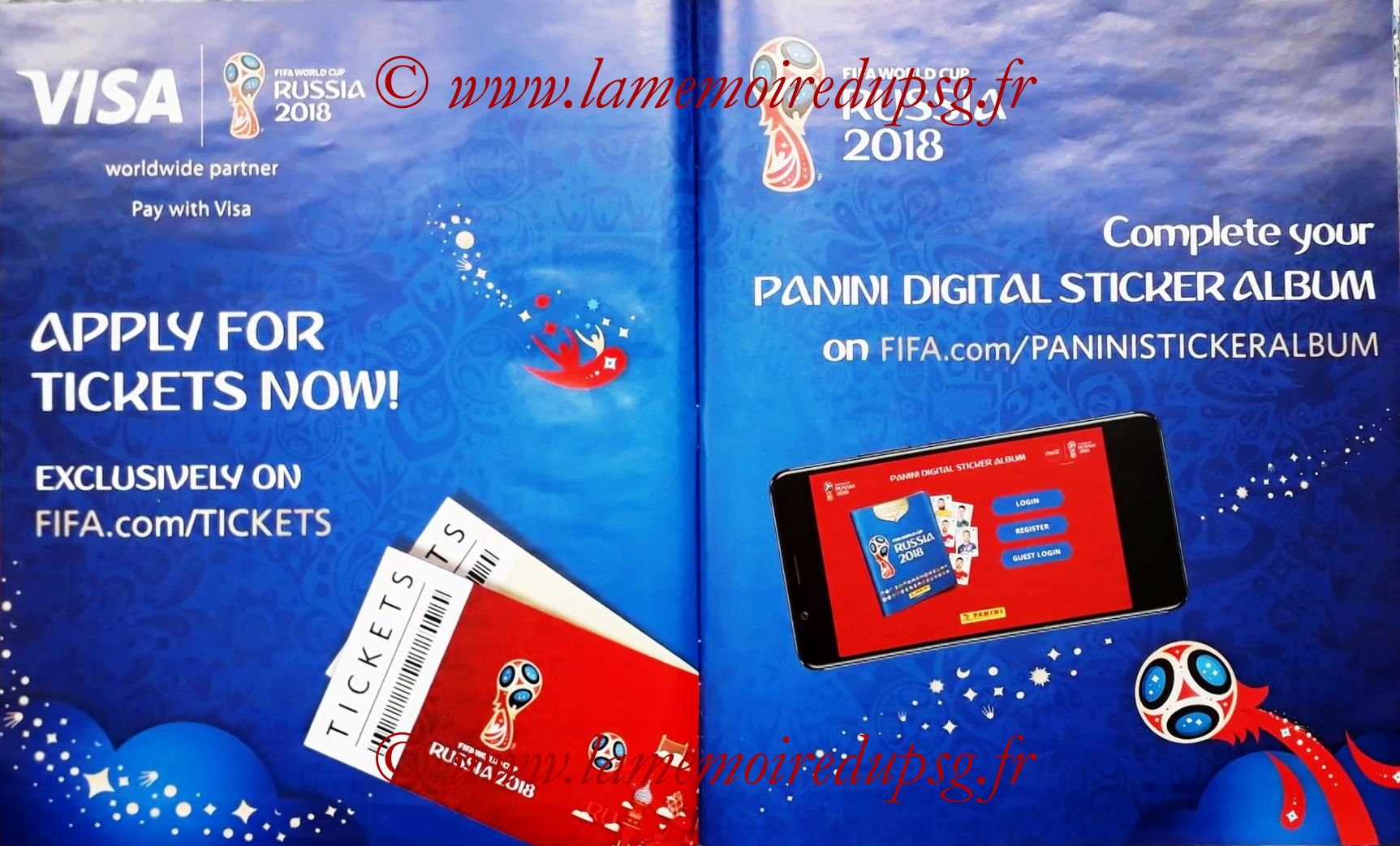 2018 - Panini FIFA World Cup Russia Stickers - Pages 06 et 07 - FIFA