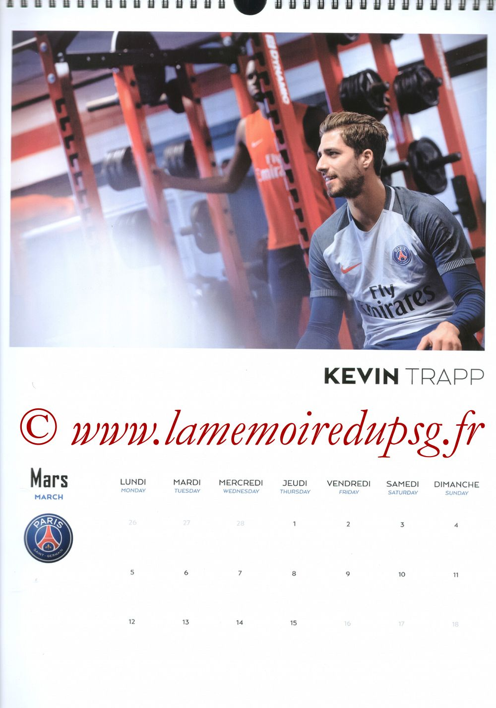 Calendrier PSG 2018 - Page 05 - Kevin TRAPP