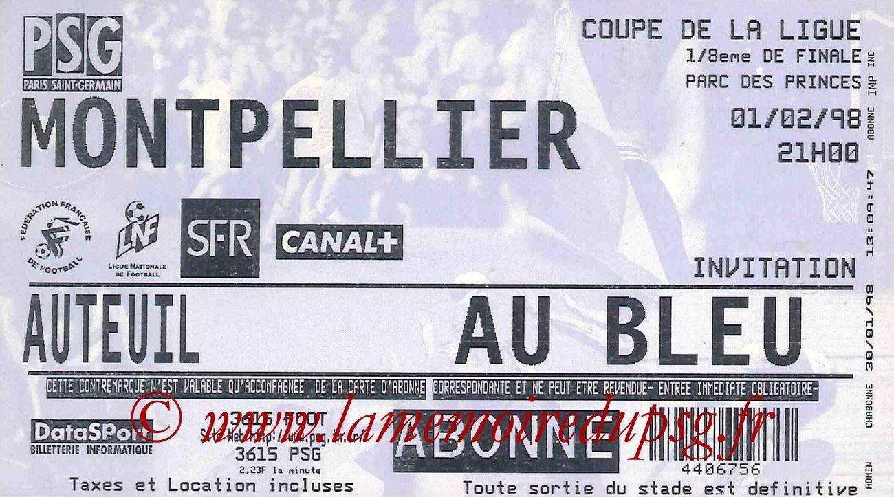 1998-02-01  PSG-Montpellier (8ème Finale CL)