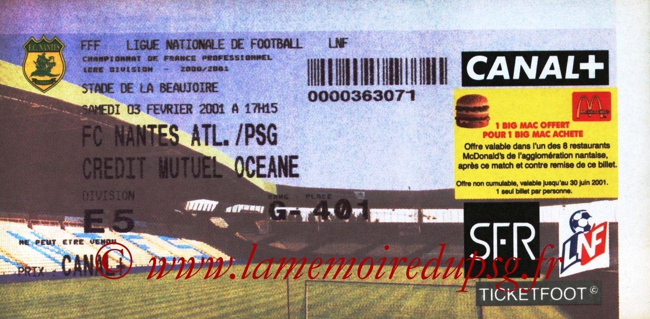 2001-02-03  Nantes-PSG (25ème D1)
